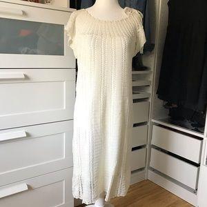 BCBG White Woven Dress
